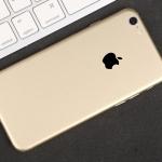 ฟิล์มหลังเครื่อง Iphone 6Plus/6sPlus (สีทอง)