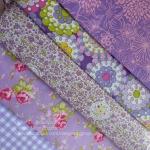Set 5 ชิ้น: ผ้าคอตตอน100% 5 ลาย โทนสีม่วง