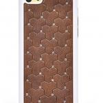 เคสไอโฟน 5C (Hard Case ขอบยาง) ประดับเพชร สีน้ำตาล