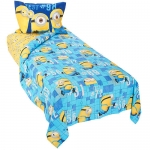 "Despicable Me Minions ""Mishap"" Twin Sheet Set - Blue/Yellow"