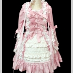 เดรสสวีทโลลิต้า สีชมพู Sweet Pink Lolita Dress