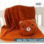 หมอนผ้าห่มตุ๊กตา หมี สีน้ำตาล ## พร้อมส่งค่ะ ##