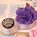 ตลับใส่ Contact Lens ตลับใส ดอกไม้สีม่วง Anna Sui