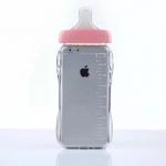 เคสไอโฟน 6 (TPU Case เคสนิ่ม) ขวดนมสีชมพู