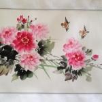 ภาพวาดผู้กันจีน นกกับโบตั๋น zen05
