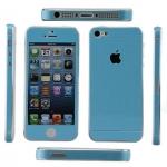 ฟิล์มกันรอยกากเพชรสำหรับไอโฟน 5/5s/SE สีฟ้าเข้ม (Dark Blue)