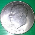 เหรียญไลเบอร์ตี้สหรัฐอเมริกา ชนิด 1 ดอลลาร์ ปี 1971 สภาพเยี่ยม หายาก