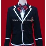 เสื้อสูทนักเรียนญี่ปุ่น แขนยาว สีดำ สำหรับผู้หญิง