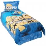 """Despicable Me Minions """"Mishap"""" Twin Comforter Set - Blue"""