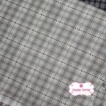 ผ้าทอญี่ปุ่น 1/4ม.(50x55ซม.) สีเทาอ่อน ทอลายตาราง