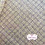 ผ้าทอญี่ปุ่น 1/4ม.(50x55ซม.) ลายตารางสีเหลืองน้ำตาล