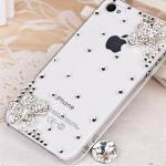 เคสไอโฟน 4/4s (Case Iphone 4/4s) ( เคสไอโฟนกรอบใส ประดับเพชร น่ารักสไตส์เกาหลี )