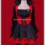 ชุดแฟนซีเลดี้แดร็กคูล่าสีดำแดง (Lady Dracula Fancy Costume)