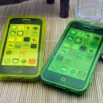 เคสไอโฟน 5C (TPU CASE) คลุมรอบเครื่องแบบมันใส สีเหลือง ปิดปกหน้า Touch ได้
