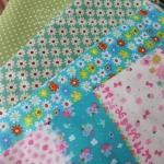 เซ็ท 4 ชิ้น : ผ้าคอตตอน100% โทนสีเขียว ชิ้นละ1/8 ม.(50x27.5ซม.)