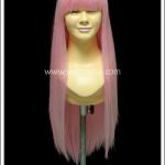 วิกผมคอสเพลย์ สีชมพู มีหน้าม้า Pink Cosplay Wig