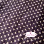 ผ้าคอตตอนไทย 100% 1/4 ม.(50x55ซม.)ลายดาว พื้นสีน้ำตาล