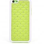 """เคสไอโฟน 5C """"Daimond Wave"""" สีเขียว"""
