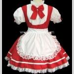 ชุดเมดเรดแซสซี่ Red Sassy Maid Costume สีแดง