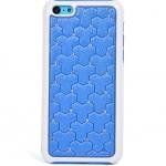 เคสไอโฟน 5C (Hard Case ขอบยาง) ประดับเพชร สีน้ำเงิน