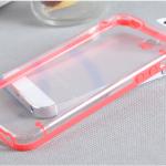เคสไอโฟน 5/5s/SE Hard Case กรอบใส ขอบซิลิโคนสีแดง คลุมรอบเครือง