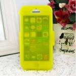 เคสไอโฟน 5C (TPU CASE) คลุมรอบเครื่องแบบด้านใส สีเหลือง ปิดปกหน้า Touch ได้