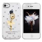 เคสไอโฟน 4/4s (Case Iphone 4/4s) เคสไอโฟนกรอบโปร่งใส ประดับสาวเต้นบัลเล่ย์