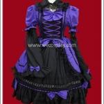เดรสแบล๊กอเมทิสต์โกธิคโลลิต้า สีม่วงดำ Black Amethyst Gothic Lolita Dress