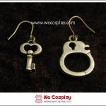 ต่างหูโกธิค กุญแจมือ สีทองโบราณ Gothic Earrings