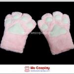 ถุงมือแมวเหมียว สีชมพู Pink Kitty Gloves