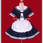 ชุดเมดเซเลอร์สีกรมท่า ผูกเน็คไท (Navy Blue Sailor Maid Costume)