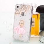 ***สินค้ามีตำหนิเล็กน้อย***เคสไอโฟน 5/5s (Case Iphone 5/5s) เคสไอโฟนกรอบใส สาวเต้นบัลเล่ย์ กระโปรงสีชมพู สำเนา