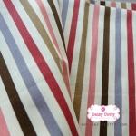 ผ้าคอตตอนลินิน 1/4ม.(50x55ซม.) ลายทาง
