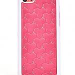 เคสไอโฟน 5C (Hard Case ขอบยาง) ประดับเพชร สีชมพูเข้ม