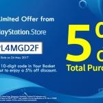 PSN Store Thai - แจกรหัสส่วนลด 5%