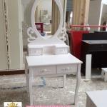 โต๊ะเครื่องแป้งขนาดเล็ก วินเทจ เจ้าหญิง สีขาว