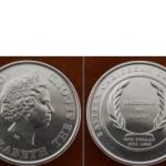 เหรียญประเทศหมู่เกาะอีสเทิร์นคาริบเบียนEAC-KM58 ชนิดราคา 1 DOLLAR (ดอลลาร์)