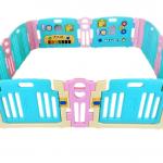 คอกกั้นเด็ก Meeso สี Aquamarine อความารีน ไซส์ L รุ่น playgame + melody