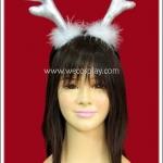ที่คาดผมเขากวางเรนเดียร์ สีเงิน Silver Reindeer Antler Headband