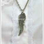 สร้อยคอโกธิคโลลิต้า จี้ปีกนก สีทองโบราณ Gothic Lolita Necklace