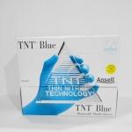 ถุงมือไนไตรกันสารเคมี สีฟ้า nitrile gloves