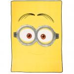 Despicable Me Plush Blanket - Minion Dave - Yellow