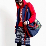 *Pre Order* กระเป๋าแฟชั่นญี่ปุ่น MCYS & JPN Yohji Kimura Canvas Messenger bag High School -size 48x40x19 cm.