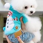 เสื้อสุนัขลายตุ๊กตาหิมะ (ไซส์ XS,S,L)