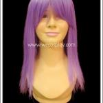 วิกผมคอสเพลย์ สีม่วง ยาวตรง มีหน้าม้า Purple Cosplay Wig