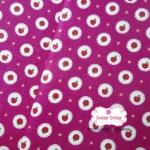 ผ้าคอตตอนไทย 100% 1/4 เมตร พื้นสีชมพู ลาย Mini Apple