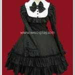 เดรสโกธิคโลลิต้า แบล๊คไลท์โซนาต้า สีดำ Black Light Sonata Lolita Dress