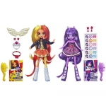 My Little Pony - Equestria Girls Sunset Shimmer and Twilight Sparkle Dolls (2 Pack)