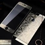 ฟิล์มกระจกลายเพชร หน้า-หลัง Iphone 6Plus/6sPlus สีทอง