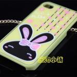 เคสไอโฟน 4/4s เคสไอโฟน Hard Case ลาย Love Rabbit สีเหลือง (หัวกระต่ายเป็นกระจกค่ะ)